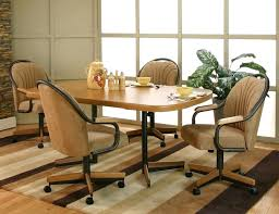 dining room sets with rolling chairs medium size of dinette sets with casters wooden rolling chair