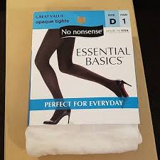 No Nonsense Size Chart Tights 5 For 25