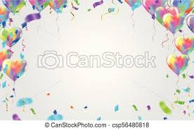 Balloon Banner Template Abstract Colorful Celebration Background With Confetti Party Streamers And Colorful Confetti On Background Illustration