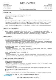 College Resume Examples For High School Seniors Examples College