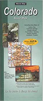 Colorado Mileage Chart Colorado State Map Warren Associates 9781598624663 Amazon