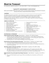 Valuable Quality Manager Resume Examples Qa Resume Summary