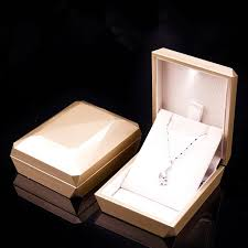 jewelry display box. Fine Display New Fashion Gold White Ring Pendant Box Jewelry Display LED  Rubber Painting In