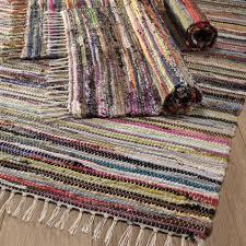 medium multi coloured rag rug 100x164 cm