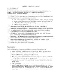 Resume For Cna Position Simple Private Duty Cna Resume Sample Nursing Assistant Job Description For