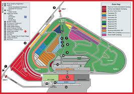 Pocono Raceway Camping Map