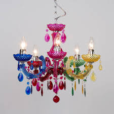 multi colour shabby chic style chandelier