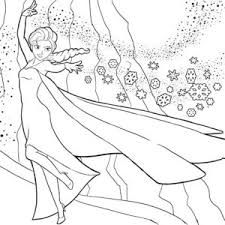 Small Picture Elsa the Snow Queen Making Snowflakes Coloring Page Elsa the Snow