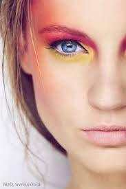 bright pink and yellow eyes beauty