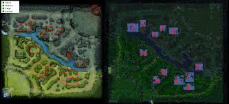 spawn map of neutrals for dota 2 dota2