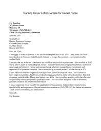 Cover Letters For Resume Nursing Letter Packet Career Center Sle