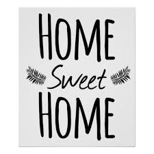 Small Picture Home Sweet Home Typography Poster Zazzle