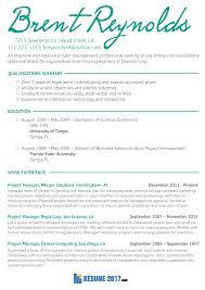 Proj Manager Resume Template 2018 Which Will Help You Make Your