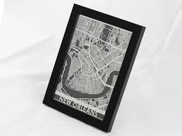 new orleans stainless steel map 5 x7 cool cut  on new orleans map wall art with new orleans city map metal wall art cut map gift cut maps