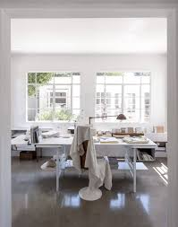 polished concrete floors in the office and rest of the house of michaela scherrer