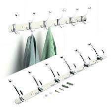 wall rack with hooks wall hanger hooks wall hanger hook holder convenient silver stainless steel 6 wall rack with hooks