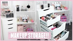 makeup storage organization for ikea alex drawers pt 2