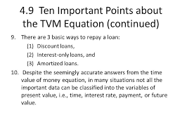 4 9 ten important points about the tvm equation continued