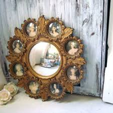 victorian wall decor vintage cameo round mirror with small frames inspired wall decor renaissance round victorian victorian wall decor