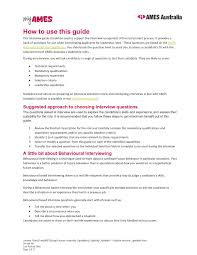 Behaviour Based Questions Leadership Capabilities Selection Interview Capabilities V3 Pages