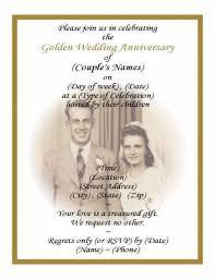 Sample Of 50th Birthday Party Program 50th Wedding Anniversary Program Wording 50th Wedding