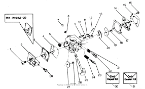 Poulan xr 95 gas trimmer parts diagram for carburetor wa 149 wa on weed eater