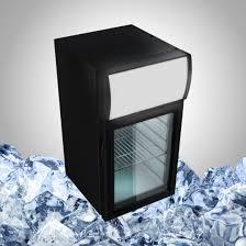 best small countertop refrigerator with glass door