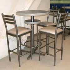 bar style tall pedestal table
