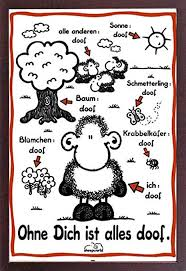 Sheepworld Ohne Dich Ist Alles Doof Poster With Accessory Item