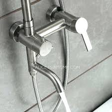 stainless steel outdoor showers