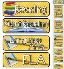 Yellow Calendar Pocket Chart Yellow White Polka Dot Themed Pocket Chart Subject Schedule Cards And Calendar