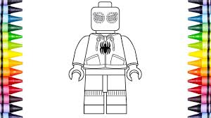 How To Draw Lego Spiderman Kids Learn Drawing Coloring Pages