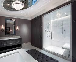 custom bathroom lighting. Modern Shower Doors Bathroom Contemporary With Beveled Mirror Ceiling Light Custom Lighting R
