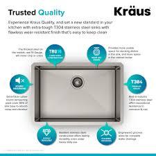 kraus standart pro 8482 28 undermount single bowl stainless steel kitchen sink with