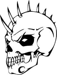 Small Picture Mohawk Skull Heads Coloring Pages Coloring Pages
