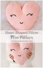 Heart Crochet Pattern Beauteous Heart Shaped Pillow Crochet Pattern Leelee Knits