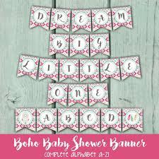 Dream Catcher Baby Shower Decorations Boho Baby Shower Banner Tribal Print Baby Shower Banner Bohemian 85