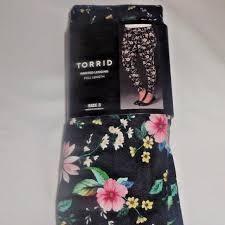 Torrid <b>Floral Skull</b> Print Full Length Leggings sz 3 plus NEW ...