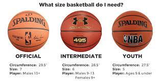 Girls Basketball Size