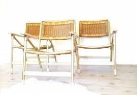 wicker folding chairs. Three Folding Chairs ~ Mid Century Telescope Rattan/Wicker Woven Wood Arm Wicker I