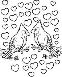 Free Printable Love Birds Valentines Day Coloring Page For Kids On