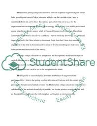Personal Statement Admission Application Essay Example