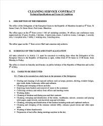 Sample Cleaning Contract Agreement Sample Office Cleaning Contracts Cleaning Agreement Template Sample