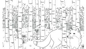 Coloring Pages Forest Animals Forest Coloring Pages Printable Forest Coloring Pages Forest