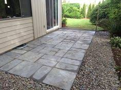 patio stones home depot. Nantucket Pavers Patio-on-a-Pallet 12 In. Concrete Gray Variegated Basketweave York-Stone 30532 At The Home Depot - Mobile Patio Stones