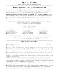 Resume Template Project Manager Reluctantfloridian Com
