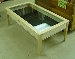 simple top shadow box coffee table