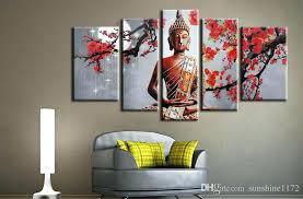 wall arts large buddha canvas wall art canvas art modern home decoration 5 panel canvas on large framed canvas wall art with wall arts large buddha canvas wall art canvas art modern home