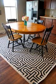 rug under round kitchen table. Rug Under Rectangular Kitchen Table Round Menards Area Rugs For With Additional Yellow Exhaust Fan