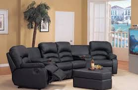 sectional sofas with recliners and cup holders dining room inside cool sectional couches for small spaces your house design